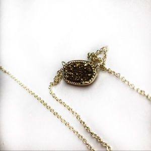 ⬇️FLASH SALE Kendra Scott brown druzy necklace
